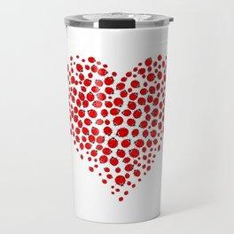 Ladybug heart Travel Mug