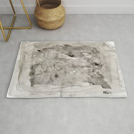 Abstract Painting Grayscape Rug