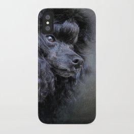 Snack Spotter - Black Toy Poodle iPhone Case