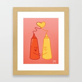love food  Framed Art Print