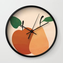 An Apple and a Pear Wall Clock