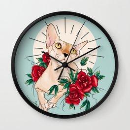 Ramona in flowers Wall Clock