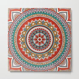 Hippie Mandala 6 Metal Print