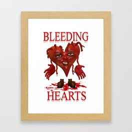 Bleeding Hearts .. gothic fantasy Framed Art Print
