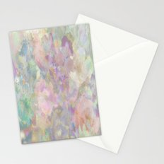 Sweet Spring Pastel Floral Abstract Stationery Cards