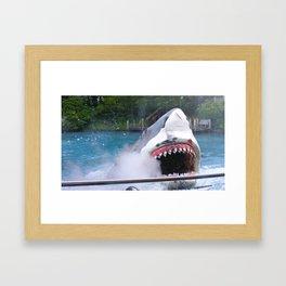 Shark Attack II! Framed Art Print