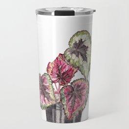 Begonia Rex Houseplant Travel Mug