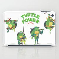 ninja turtle iPad Cases featuring Ninja Turtles Turtle Power by MrMaars