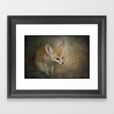 Little Fennec Fox Framed Art Print