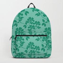 Emerald Green Leaves Backpack