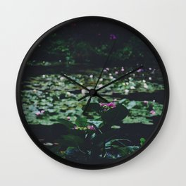 Among the Water Lilies Wall Clock