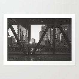 Downtown Sunset - Chicago Photography Art Print