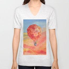 Hot Air Bloom Unisex V-Neck