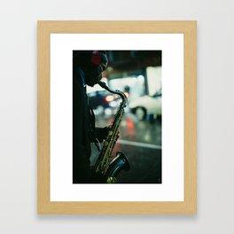 Mr. Sunshine under the Rain Framed Art Print