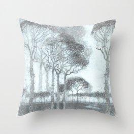 Winter trees studyIII Throw Pillow