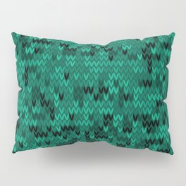 Green knitted textiles Pillow Sham