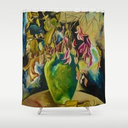 "African American Classical Masterpiece ""Still Life – Flowers and Vase"" by Hale Woodruff Shower Curtain"