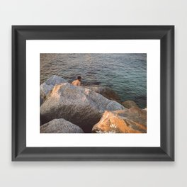 Wait for me underneath the water Framed Art Print