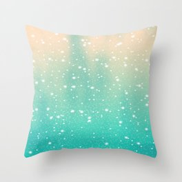 Cosmic Snowfall Throw Pillow