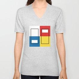 Mondrian_Elevators Unisex V-Neck