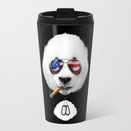 American Panda Black Travel Mug