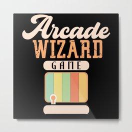 Arcade Wizard Game Machine Retro Arcade Metal Print