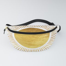 Golden Sunburst Starburst White Hot Fanny Pack