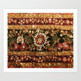 Beaded Indian Saree Photo Art Print