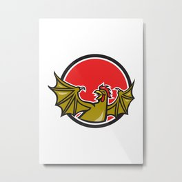 Basilisk Bat Wing Cartoon Metal Print