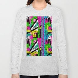 80's Shape Splatter Long Sleeve T-shirt