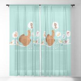 Its a sing along Sheer Curtain