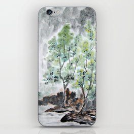 Trees By The River iPhone Skin