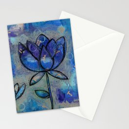 Abstract - Lotus flower - Intuitive Stationery Cards