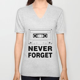Never Forget Art Unisex V-Neck