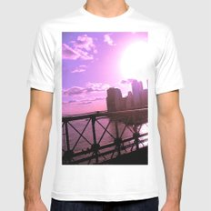 As the Sun Sets White MEDIUM Mens Fitted Tee