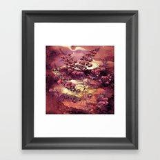 pink Christmas landscape Framed Art Print