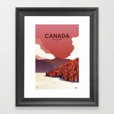 Alone In Nature - RedSky Framed Art Print