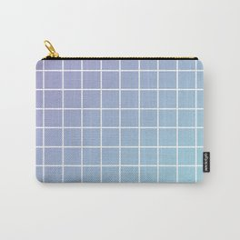 Lavender acqua minimalist grid pattern Carry-All Pouch