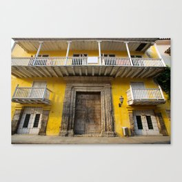 Cartegena Walled City Yellow Home Canvas Print