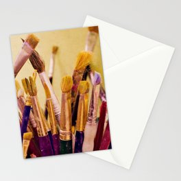 Paintbrushes Stationery Cards