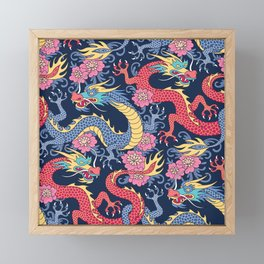 East Dragons Framed Mini Art Print