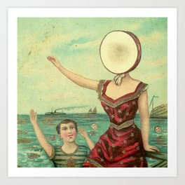 Neutral Milk Hotel - In the Aeroplane Over the Sea Art Print