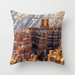 Sunset Point 0010 - Bryce_Canyon_Natonal_Park, Utah Throw Pillow
