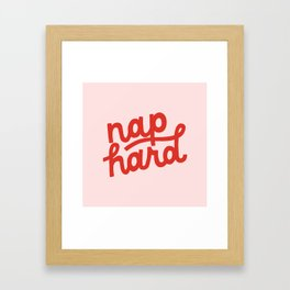 Nap Hard Framed Art Print