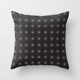 Seamless Black Pattern Throw Pillow