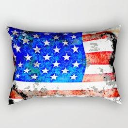 Extreme Grunge American Flag Rectangular Pillow