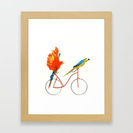 Reason SEVEN for using bike: Framed Art Print