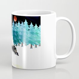 fox and steam train Coffee Mug