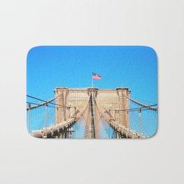 107. Middle of Brooklyn Bridge, New York Bath Mat
