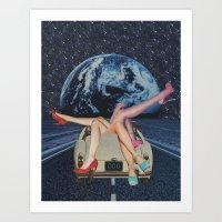 trip Art Prints featuring Trip by Michelle Cordes